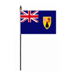 Turks and Caicos Country Hand Flag - Small.